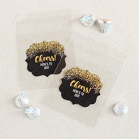 New Years Eve Party Supply and Favour Guide - Personalized Holiday Clear Party Candy Bags