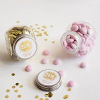 New Years Eve Party Supply and Favour Guide - Personalized Holiday Candy Jars