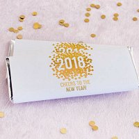 New Years Eve Party Supply and Favour Guide - Personalized Holiday Hershey's Chocolate Bars